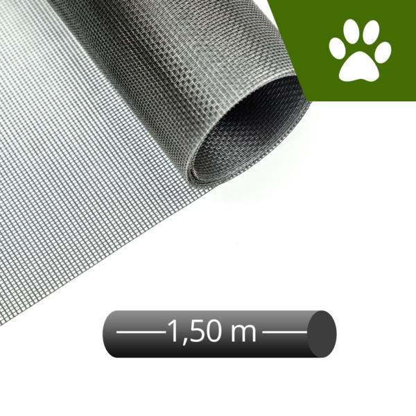Fliegengitter katzensicher grau 150cm Rolle