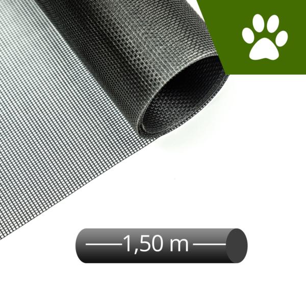 Fliegengitter katzensicher schwarz 150cm Rolle