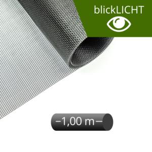 Fliegengitter Rolle Fiberglas blickLICHT schwarz 100 cm
