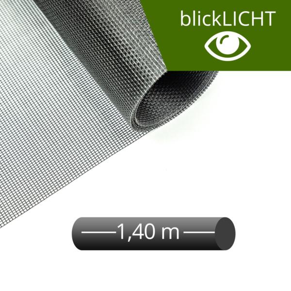 Fliegengitter Rolle Fiberglas blickLICHT schwarz 140 cm