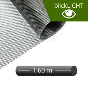Fliegengitter Rolle Fiberglas blickLICHT schwarz 160 cm