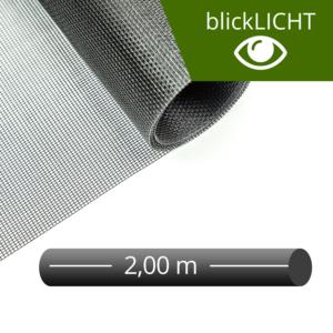 Fliegengitter Rolle Fiberglas blickLICHT schwarz 200 cm