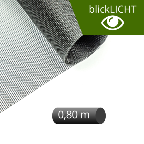 Fliegengitter Rolle Fiberglas blickLICHT schwarz 80 cm