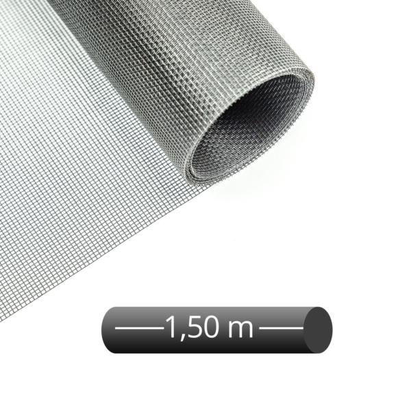 Fliegengitter Rolle Fiberglas Grau 150 cm