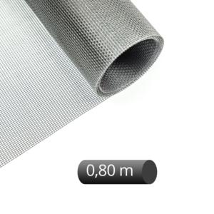 Fliegengitter Rolle Fiberglas Grau 80 cm