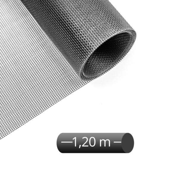 Fliegengitter Rolle Fiberglas schwarz 120 cm