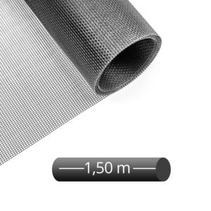 Fliegengitter Rolle Fiberglas schwarz 150 cm