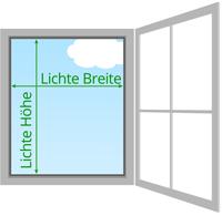 Lichte Maße für Fliegengitter mit Rahmen